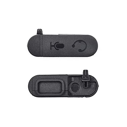ZRNG 100pcs Auricular Auricular Jack Cubierta de Polvo Ajuste para Motorola XIR P3688 DEP450 DP1400 Radio de Dos vías Walkie Talkie