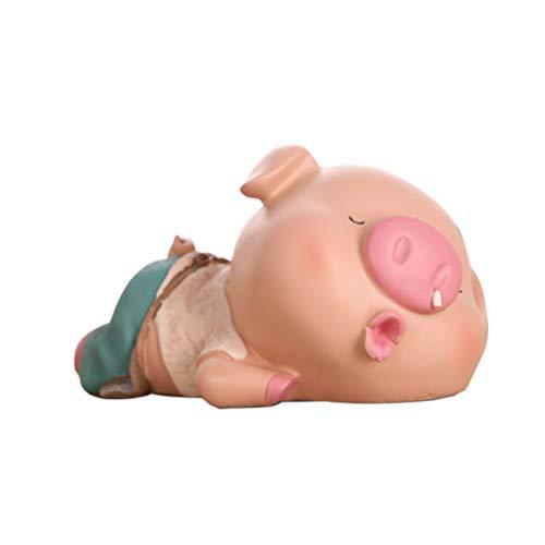 SUPVOX Hucha Resina en Forma de Cerdo Caja Almacenamiento de Dinero Animal para Niños