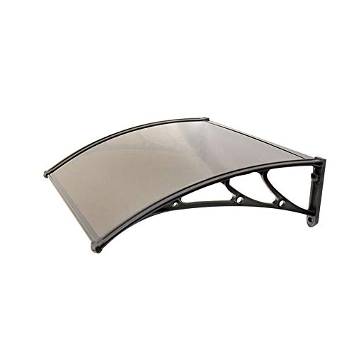 LINGZE Porch Door Canopy Rain Cover Brown, Arched Awning Apply to Window Door Pathway Walkway Garden Shed Patio