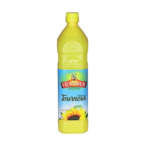 Tramier Huile de tournesol (1 x 1 L), bouteille d'huile 100 % issue des graines de tournesol, huile alimentaire pour cuisson & assaisonnement riche en vitamine E