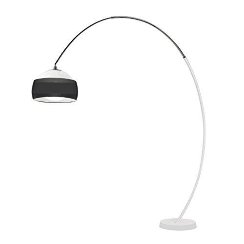 LEDS-C4 Hoop – luminaire pied Hoop PL E27 23 W blanc mat/chrome