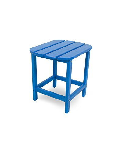 POLYWOOD SBT18PB South Beach 18 Outdoor Side Table, Pacific Blue