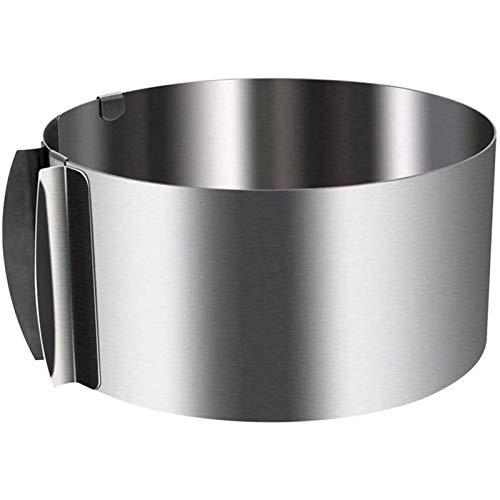 Makluce Tortenring 2, Edelstahl-Tortenring Satz mit 5 Hitzebeständigen Perforierten Kuchenmousse-Ringen Runde Poröse Tortenring-Bodenturm-Kuchenform (S: 5 cm Durchmesser)
