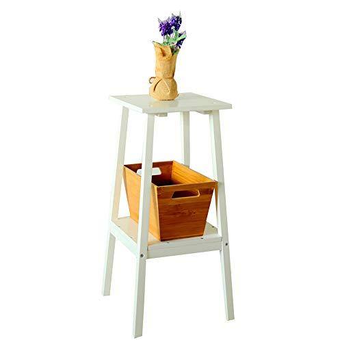 YINUO Salon Assemblage de fleurs multicouche en bois massif Chambre à coucher minimaliste moderne Deux étages de support de stockage en rondins de rangement pour racks de stockage Taille: 29x29x69cm