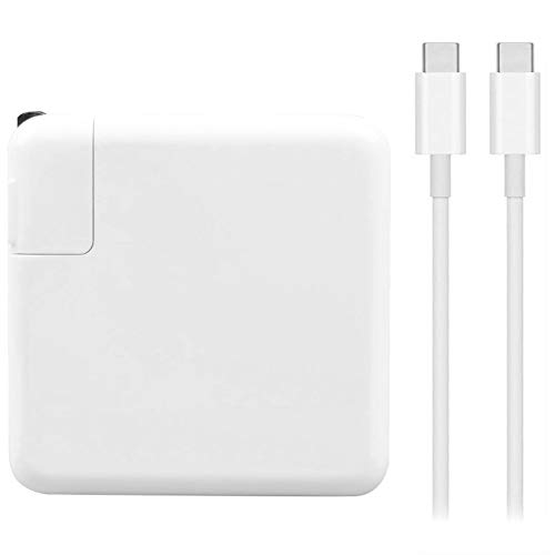 Mac Book Pro Charger, 61W USB Type C Power Adapter Compatible with MacBook Pro 13-Inch, MacBook Air 2018, Included USB-C Charge Cable (6.56ft/2m)