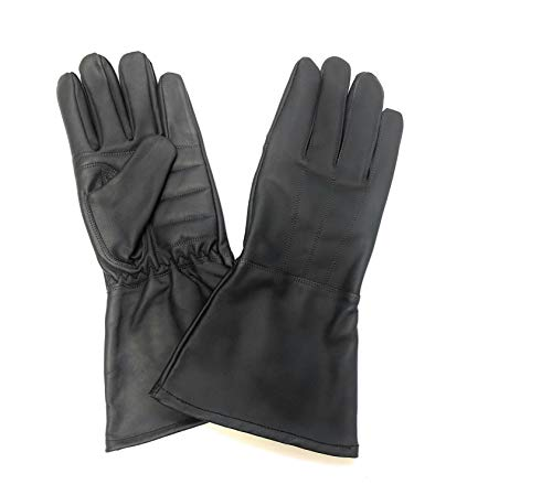 Sportsimpex Unlined All Season Men's Motorcycle Gauntlets Gloves Windstoppers Genuine Leather With Padded Palm (Dark Grey, Medium)