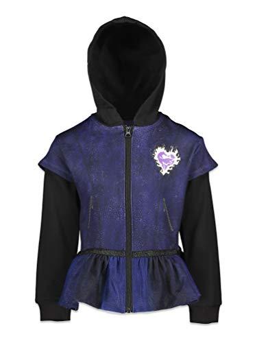 Disney Descendants 3 Big Girls Fleece Cosplay Zip-up Costume Hoodie Sweatshirt 6/6X Purple