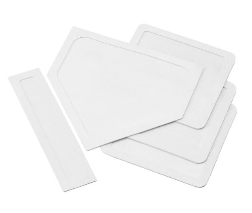 Champion Sports Throwdown Base Set: 5 Youth League Kids Baseball & Softball Rubber Throw Down Bases - Boys & Girls Training & Practice Equipment, White