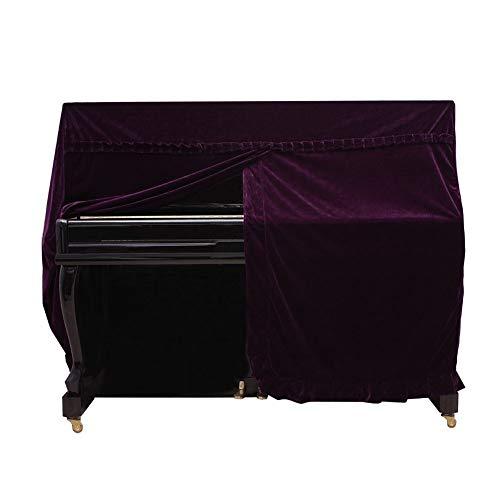 Pleuche Upright Piano Cover, Colorvoll Klavier-Staub-Beweis Verzierte Abdeckung Klavierhocker Stuhl Bank Cover Universal Anti-Kratz-Piano Cloth ( Color : Purple , Size : 153x37x117cm+36x76cm )