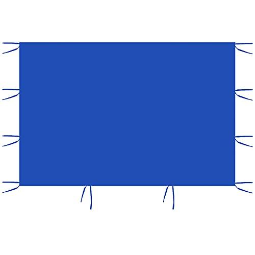 3 m x 2 m Seitenteile, Zelt-Seitenteile, Ersatzzelt, Pavillon, Seitenwand, wasserdicht, 210D Oxford-Stoff, Gartenzelt-Oberfläche (eine Seite Shelter) (blau)