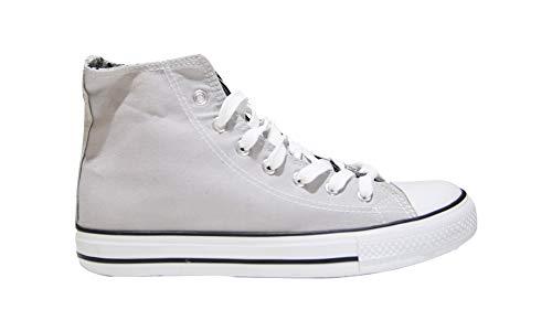 Mapleaf - Zapatos con suela de caucho auténtico, simple y clásico para hombres y mujeres, Gris (gris), 37 EU X-Étroit