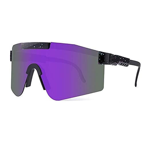 Gafas de sol deportivas para hombres y mujeres, gafas de ciclismo al aire libre, gafas de sol polarizadas dobles UV400, gafas a prueba de viento, para montañismo, senderismo u otras actividades al