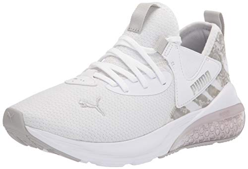 PUMA Women's Cell Vive Running Shoe, White Silver-Gray Violet, 8
