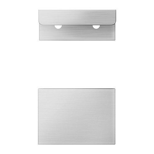 IKEA BLANKETT -Griff Aluminium / 2 Stück - 50 mm