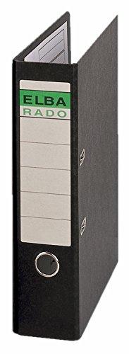 Preisvergleich Produktbild ELBA 400122692 Ordner rado Hartpappe DIN A3 hoch 8 cm breit Sonderformat schwarz Aktenordner Pappordner Blauer Engel