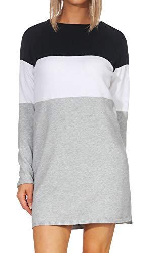 Only Onllillo L/s Dress Knt Noos Vestido, Multicolor (Night Sky White), Medium para Mujer