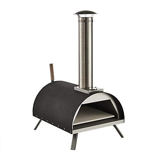 GRILIFE 13' Outdoor Pizza Oven Wood fire Pizza Oven Portable Pizza Oven Pizza Maker for Home Garden Balcony Black