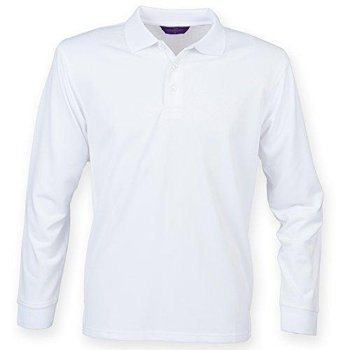 Henbury - Polo à manches longues - Homme (2XL) (Blanc)