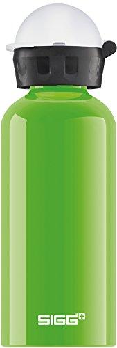 SIGG KBT Kicker Kinder Trinkflasche (0.4 L), schadstofffreie Kinderflasche mit auslaufsicherem Deckel, federleichte Trinkflasche aus Aluminium