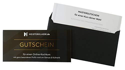 Meisterklasse Mastergutschein - Genuss und Kulinarik, 6 Online-Kurse zur Auswahl, Gutschein, Geschenk, Geburtstags-Geschenk, Geschenk Mann, Geschenk Frau, Geschenk Freund, Weihnachten