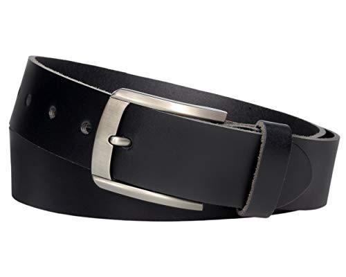 V Vascavi Vascavi er Ledergürtel aus Rindleder, 4 cm breit und ca. 3-4mm stark, kürzbar, echt Leder, 110 cm Gesamtlänge 125 cm, Schwarz