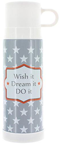 Thermosflasche WISH IT DREAM IT DO IT grey aus Edelstahl