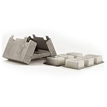 Esbit Ultralight Folding Pocket Stove with Six 14g Solid Fuel Tablets steel Small - Original