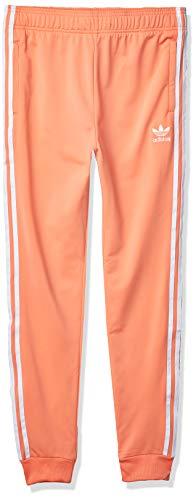 adidas Originals Kids Unisex Superstar Pants Chalk Coral/White Medium