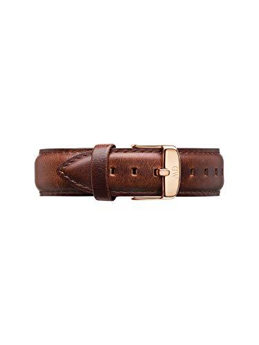 Daniel Wellington Classic St Mawes, Cinturino Marrone/Oro Rosato, 20mm, Pelle per Uomo, Beige/Marrone, Lunghezza del cinturino regolabile: (Min - Max) 165-215mm
