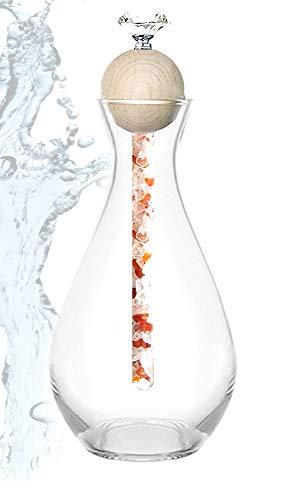 Diamond Waterstick Karaffe Lourdana mit Edelsteinstab 25cm (Liebe)