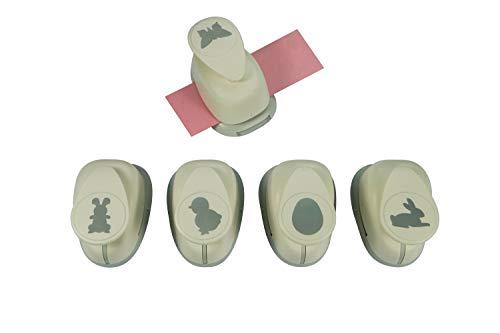 Motivstanzer Set A689925 Ostern, 2,54 cm, 5 STK, Kunststoff, weiß, 5X