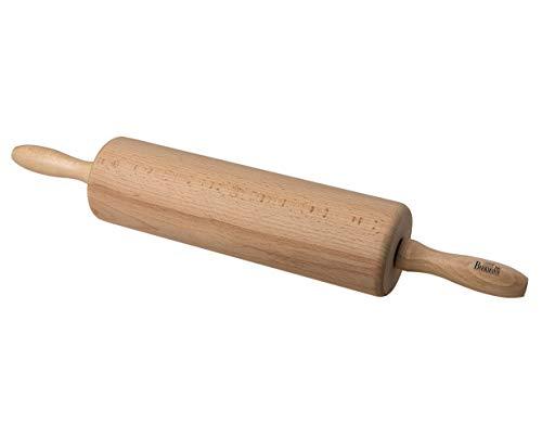 Birkmann RBV, 340527, Easy Baking, 25 cm, aus Buchenholz Teigrolle, Holz, weiß, 8 x 8 x 44 cm