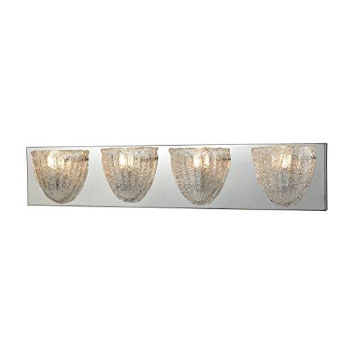 Elk Lighting 10727/4 Vanity-Lighting-fixtures, 6 x 28 x 4, Chrome