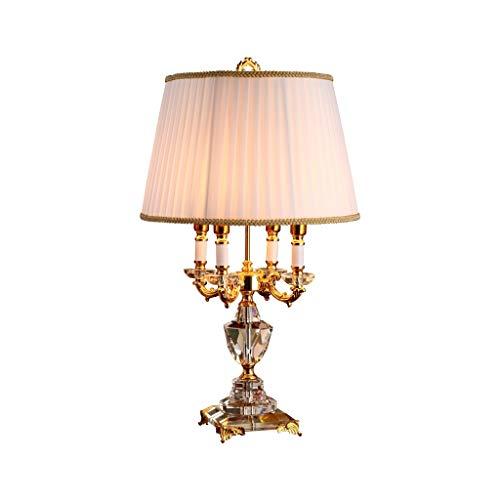 Lámparas de Mesa Lampara mesita Noche Estilo Europeo lámpara de Escritorio Dormitorio cabecera de la habitación Sala de Estudio de Lectura lámpara de Mesa de Cristal lámpara de Tabla Mesilla de Noche