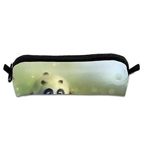 Makeup Bag,Animal Cute Panda Baby Premium Leinwand Bleistifttasche, Casual Pen Reißverschlusstaschen Für Schulreisen Im Freien,20.5x7.7x7.7cm
