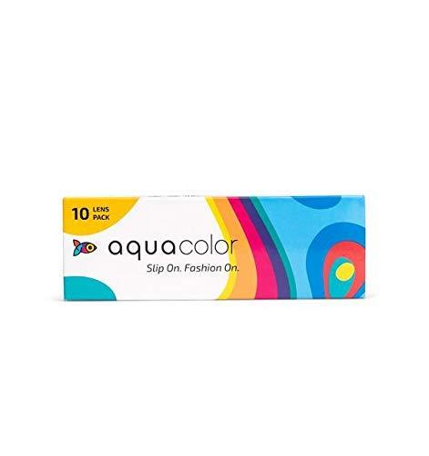 AQUALENS CONTACT LENSES Aqua Color Daily Disposable Color Contact Lens , 10 Lens/Box/Plano (Flirty Blue, 0.00)