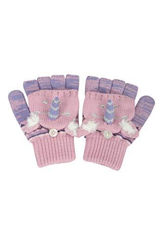Mountain Warehouse Wolf Gestrickte Kinderhandschuhe - leichte, warme und kuschelige Handschuhe für Mädchen und Jungen - ideal für Winter, Outdoor, Reisen Lila Einheitsgröße