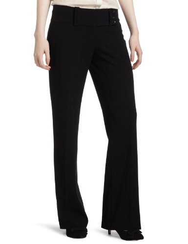 My Michelle Junior's Classic Pant with Wide Waistband, Black, 1