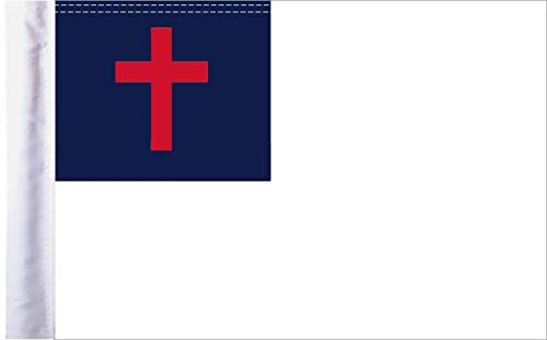 Pro Pad 10'x15' Christian Motorcycle Flag with Sleeve