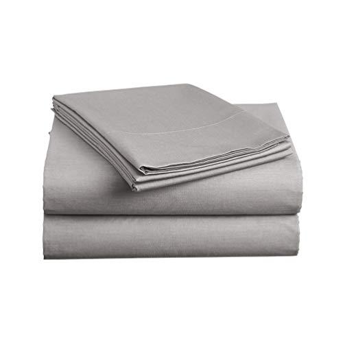 Luxe Bedding Sets - Queen Sheets 4 Piece, Flat Bed Sheets, Deep Pocket Fitted Sheet, Pillow Cases, Queen Sheet Set - Gray