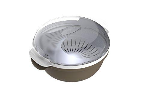 Bama Cooky recipiente para la cocción en microondas, plástico, gris, 25x 25x 12,5cm