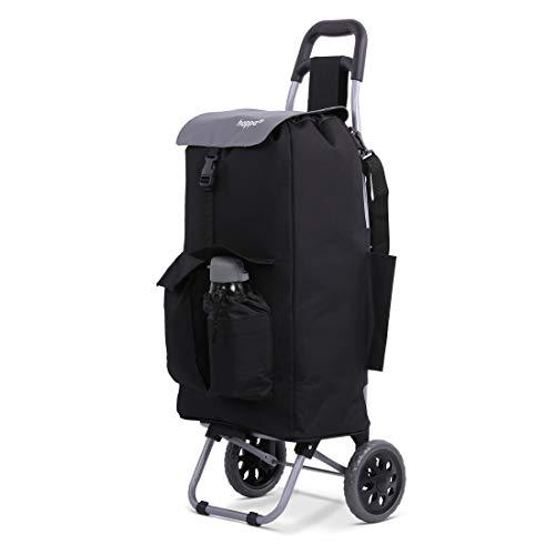Hoppa Einkaufstrolley mit 2 Rädern, voll isoliert, leicht, 42 Liter Fassungsvermögen, 95 cm, 2,1 kg, mit Schultergurt