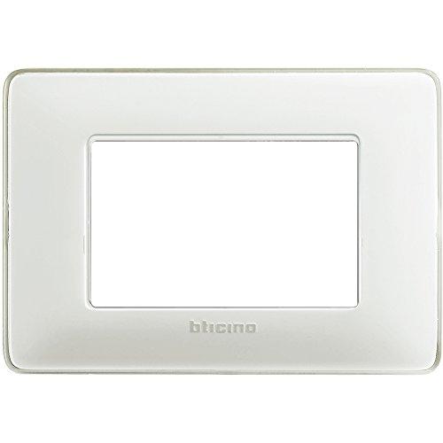 BTicino AM4803CBN Placca Matix 3 posti, Ghiaccio