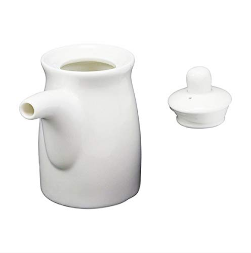 Happy Sales White Ceramic Sauce Dispenser RND