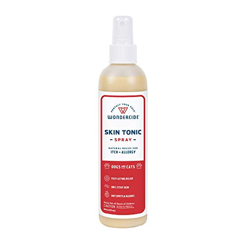 Wondercide - Skin Tonic Hot Spot & Itch Relief Spray for Dogs and Cats with Natural Essential Oils - Soothing First Aid Remedy for Pets - for Dry Itchy Skin, Allergy Rash Relief - 8 oz