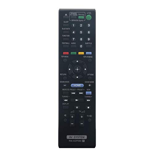 VINABTY RM-ADP090 RMADP090 149194011 Mando a Distancia de Repuesto para el Sistema de Cine en casa Sony BLU-Ray BDV-E2100 HBD-E2100 BDV-E3100 HBD-E3100