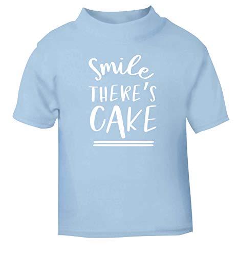 Flox Creative T-Shirt pour bébé Smile There's Cake - Bleu - 6 Mois