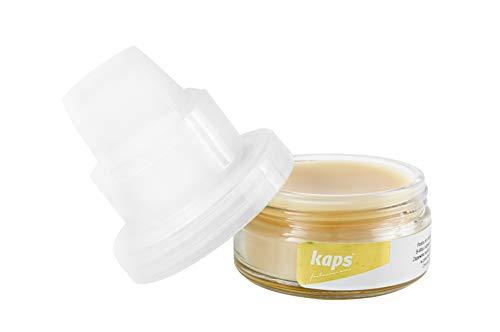 Schoen Wax Poetsmiddel, Waterdichte wax voor leer met organische bijenwas en spons, Kaps B-Wax, Transparant voor alle kleuren