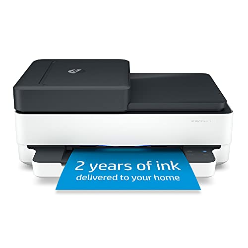 HP Envy Pro 6475 Wireless All-in-One Printer, Includes 2 Years of Ink Delivered, Mobile Print, Scan & Copy, Works with Alexa (8QQ86A)