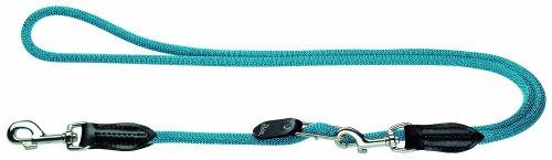 HUNTER Freestyle Vario-Leine, verstellbare Führleine für Hunde, robust, wetterfest, 1,0/200 cm, petrol